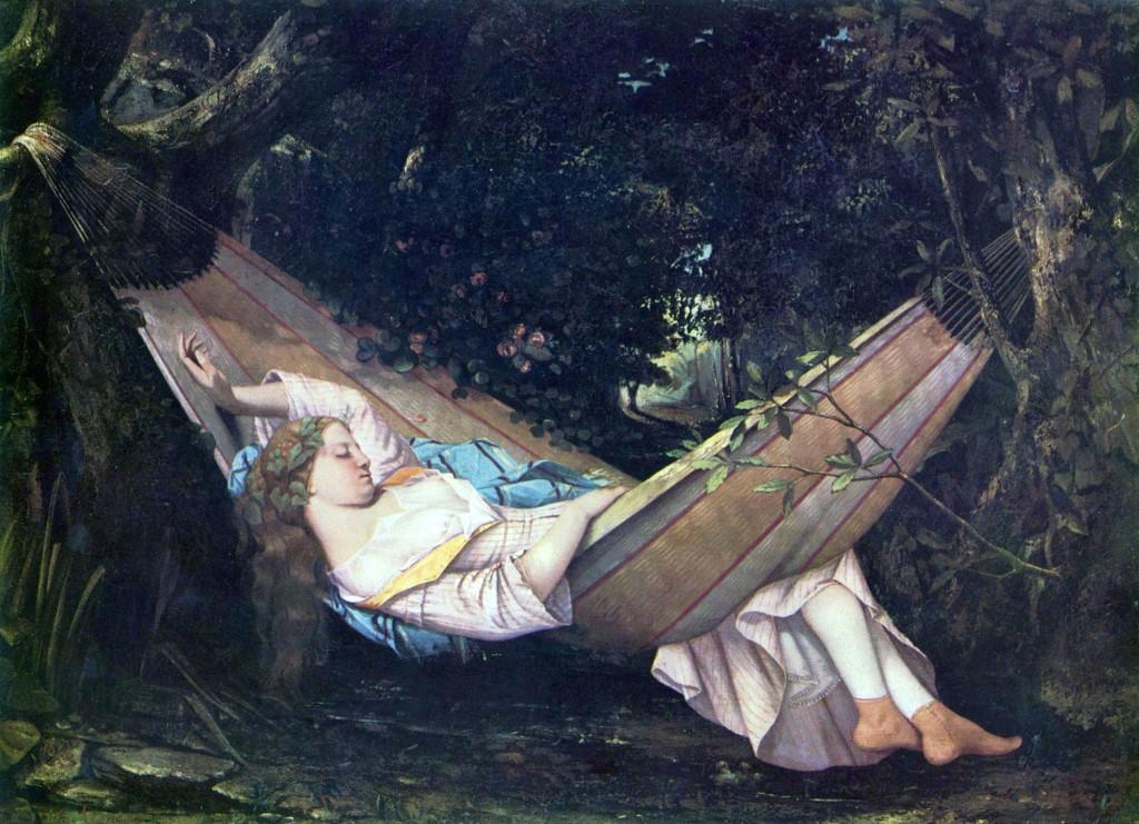 """""""Die Hängematte"""" by Gustave Courbet"""