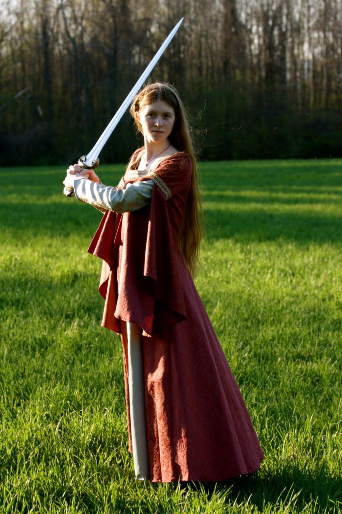 Me with my Eowyn sword, 2009. (Photo by Rebekah Michelle Photography.)